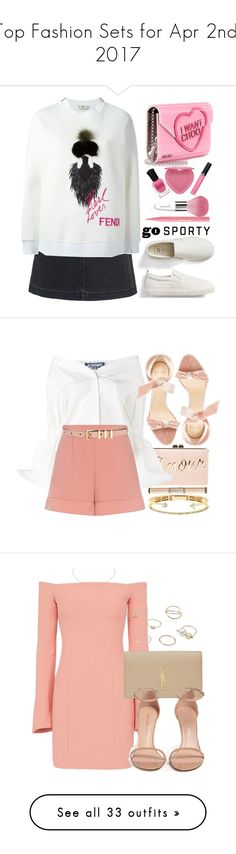 """Top Fashion Sets for Apr 2nd, 2017"" by polyvore ❤ liked on Polyvore featuring Fat Face, Fendi, Jimmy Choo, Gap, Too Faced Cosmetics, Guerlain, Deborah Lippmann, Armani Beauty, BCBGMAXAZRIA and Jacquemus"