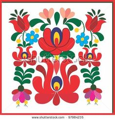 free hungarian embroidery patterns | Embroidery Hungarian Pattern Stock Vector 97984235 : Shutterstock