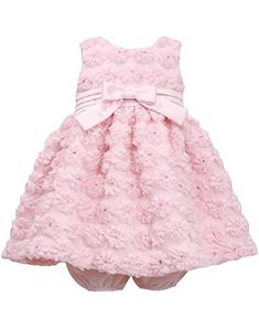 Bonnie Baby Baby Girls Pink Mesh Bonaz Dress Pink 12 Months -- Want to know more, click on the image.