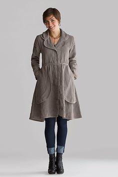 Apron Pocket Jacket: Cynthia Ashby: Linen Jacket - Artful Home