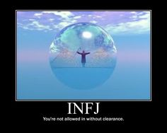 INFJ-I don't allow people in without clearance.