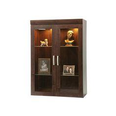 """Sauder� Office Port Collection, Display Hutch, 47 1/2""""H x 33 1/8""""W x 15 3/4""""D, Dark Alder"""