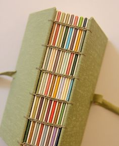 Japanese green Hand bound Book - Zoopress
