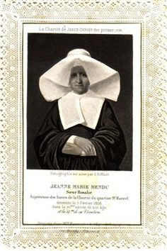 Additional Rosalie Rendu Holy Cards - Vincentian History Research Network