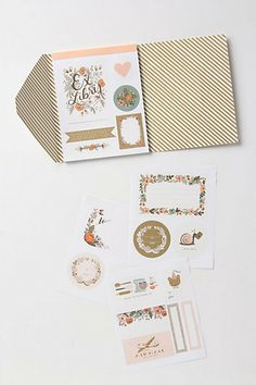 Rifle Paper Co. Botanical sticker booklet. I bought this at Anthro and it's beautiful! I can't wait to find projects to use these in.