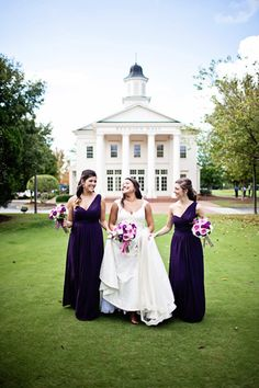 purple bridesmaid dresses | CWF Photography #wedding