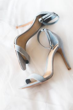 Gray suede sandals: Photography : Hello Blue Photo Read More on SMP: http://www.stylemepretty.com/little-black-book-blog/2016/07/27/beaming-bride-major-wedding-goals/