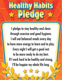 - Healthy Habits Pledge Chart, Convenient, useful learning tools decorate as they educate! Each chart measures by . Healthy Habits For Kids, Healthy Dog Treats, How To Stay Healthy, Smoothies, Smoothie Diet, Healthy Food Activities For Preschool, Preschool Songs, Kids Songs, Preschool Ideas