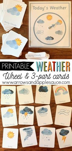Best 12 Learning about the weather is fun with these great printables! Enjoy a sensory-friendly Montessori inspired weather wheel and set of three-part cards, along with my new winter math activity bundle. Perfect printable activities great for homeschool Montessori Preschool, Weather Activities Preschool, Winter Activities For Kids, Preschool Printables, Preschool Classroom, Preschool Learning, Homeschool Preschool Curriculum, Online Homeschooling, Montessori Elementary