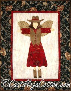 Cowgirl Angel Quilt Pattern at Castilleja Cotton