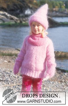 Jumper in Vienna. Hat and mittens in Vienna and Baby-ull. Neck warmer in Karisma Superwash ~ DROPS Design