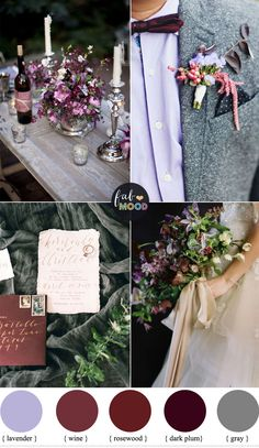 Plum and wine wedding colors + grey +lavender   fabmood.com