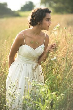 The Emily: Tea Length Fair Tea and Eco Wedding Dress With Pockets on Etsy, $740.00