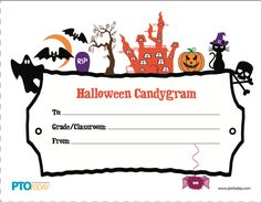 Get free Halloween Candygrams from the PTO Today File Exchange~
