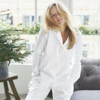 Buy Herringbone Pyjamas With Bag - from The White Company White Company Pyjamas, The White Company, Louise Redknapp, Cotton Sleepwear, Fashion Essentials, Style Essentials, Nightwear, Herringbone, Pajama Set