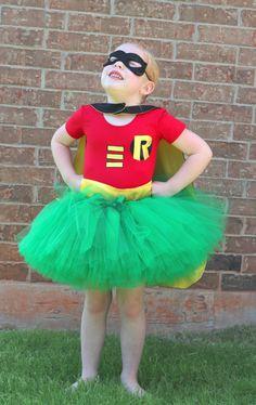 Robin Super Hero Girl Tutu Costume by SocktopusCreations on Etsy, $71.00