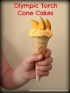 Olympic Torch Cone Cakes kid-blogger-network-activities-crafts