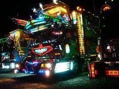 Dark Roasted Blend: Electric Light Truck Decoration in Japan