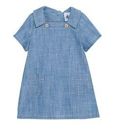 Chambray baby dress, Petit Bateau