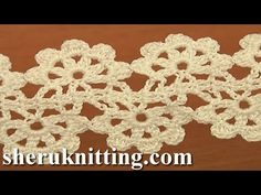 Pineapple Stitch Fish Stitch Lace Tape Crochet Tutorial 15 Free Crochet Lace Pattern - YouTube