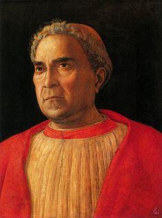 Portrait of Cardinal Lodovico Mezzarota - Andrea Mantegna (Italian: 1431 - 1506)