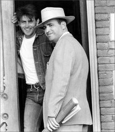 Martin Sheen and Terrence Malick on the set of Badlands (1973)