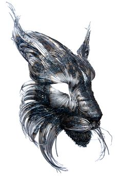New Hammered Steel Animal Head Sculptures by Selçuk Yılmaz   Colossal