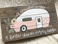 Hey, I found this really awesome Etsy listing at https://www.etsy.com/listing/235548301/vintage-camper-camper-sign-hand-painted