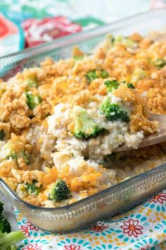 Creamy, cheesy and comforting, this broccoli rice casserole is a family favorite! Combine leftover turkey with cheese, rice and broccoli for a perfectly easy casserole that your whole family will love!