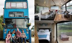 Andrew and Lisa-Jane Powis, from Ryton, Shropshire, bought the Lleyland Atlanteen bus off eBay for just £2,500 and spent six weeks transforming it into a unique camper van.