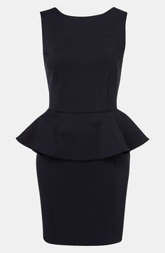 Topshop Ribbed Peplum Dress available at #Nordstrom