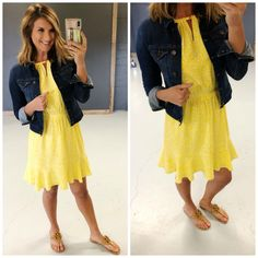 Outfits To Wear Right Now [Work, Casual, Events] - Living in Yellow High Jeans, High Waist Jeans, Pony Sneakers, Living In Yellow, Wide Leg Cropped Pants, Denim Leggings, Suede Jacket, Faux Wrap Dress, Work Casual