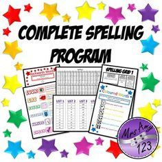 Spelling Program- including activities, word lists and paper saving ideas!