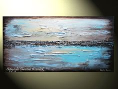 GICLEE PRINT Art Abstract Painting Blue door ChristineKrainock