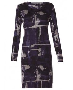 Amazing abstract dress, cute with knee high boots!