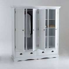 Armoire 4 portes, Authentic Style La Redoute Interieurs Armoire En Pin, Playroom, Lockers, Locker Storage, Cabinet, Furniture, Dressing, Style, Home Decor