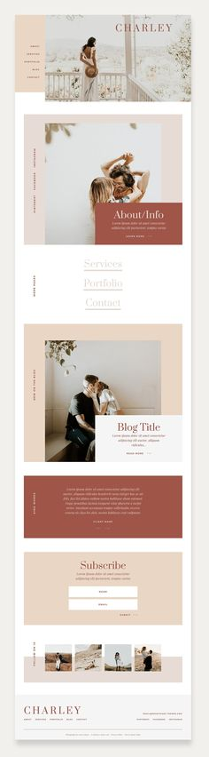 Charley WordPress Theme by Studio 9 Co & Made to Thrive Website Design Inspiration, Beautiful Website Design, Blog Design, Web Design Inspiration, Page Design, Layout Design, Web Layout, Design Responsive, Mobile Responsive