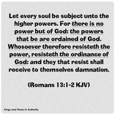 Romans 13:1-2 KJV