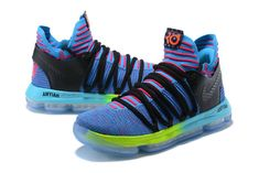 premium selection 50087 5539f Nike Zoom KD 10 LMTD EP Mens Original Basketball Shoes Sky Blue Pink Black  Yellow White