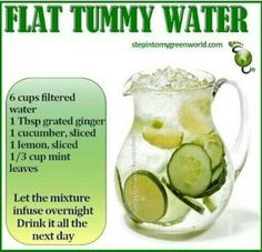 Flat Tummy WATER! Learn how to lose extra calories simply with water..