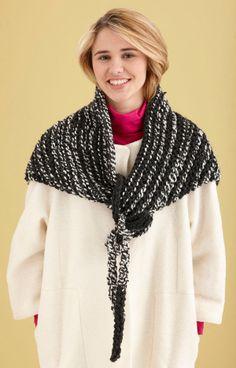 Knit Triangle Wrap - free pattern on Lion Brand Yarns site