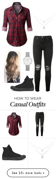 """Casual"" by vampy-girl64 on Polyvore featuring AMIRI, Converse and Daniel Wellington"