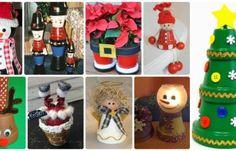 DIY Terra Cotta Clay Pot Christmas Craft Ideas For Fun Holiday Decoration Christmas Craft Projects, Christmas Clay, Crochet Christmas Ornaments, Christmas Mason Jars, Homemade Christmas Gifts, Holiday Crafts, Holiday Decor, Holiday Ideas, Xmas