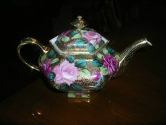 Nippon Moriage Footed Teapot RARE Antique 143 Years Old circa 1870's