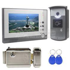 DIYSECUR Electric Lock 7 inch Color Video Door Phone Visual Intercom Doorbell Card Key Reader RFID. Cameras OnlineNight ...  sc 1 st  Pinterest & DIYSECUR Electric Lock 7 inch Color Video Door Phone Visual Intercom ...