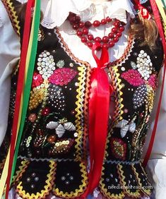 Polish vest with intricate beading and sequins Art Costume, Folk Costume, Polish Embroidery, Sequin Embroidery, Folklore, Polish Folk Art, Local Festivals, Lace Making, My Heritage