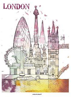 London - Poster A3. €18,00, via Etsy.