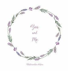 Watercolor decorative elements round frame of lavender vector lilac frame by meggichka on VectorStock® Wreath Watercolor, Watercolor Flowers, Watercolor Border, Karten Diy, Round Frame, Flower Frame, Brush Lettering, Painting & Drawing, Wreath Drawing