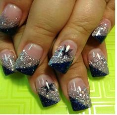 Manicure....Dallas Cowboys style!