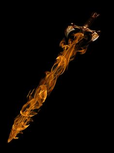 images of fire art | Sword Turn Into Fire - Photoshop